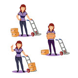 Female Remover Staff Royalty Free Stock Photography