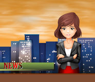 A female reporter Royalty Free Stock Images