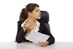 Female Reporter Royalty Free Stock Image