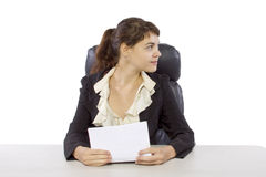 Female Reporter Royalty Free Stock Photography
