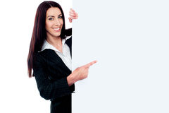 Female representative of a company Royalty Free Stock Image