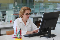Female researcher Stock Photography
