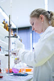 Female researcher Stock Images