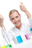 Female researcher Stock Photo