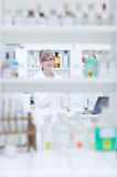 Female researcher carrying out research Stock Photography
