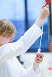 Female researcher in a chemistry lab Stock Photo
