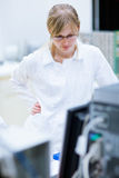 Female researcher in a chemistry lab Stock Image