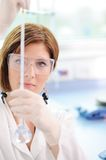 Female researcher in laboratory Stock Images