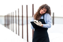 Female researcher technician Royalty Free Stock Photography