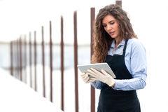 Female researcher technician Royalty Free Stock Photo