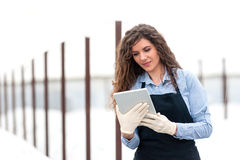 Female researcher technician Stock Images