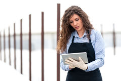 Female researcher technician Royalty Free Stock Photos