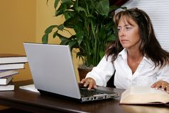 Female researcher at work Stock Photography