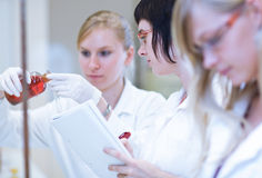 Female researchers in a chemistry lab Stock Photography
