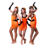 Female retro dancers showing some movements Royalty Free Stock Photo