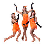 Female retro dancers showing some movements Stock Photos