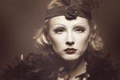 Female retro revival portrait. Royalty Free Stock Photos