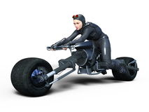 Female rider. 3D CG rendering of a female rider Stock Photography