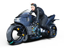 Female rider. 3D CG rendering of a female rider Stock Images