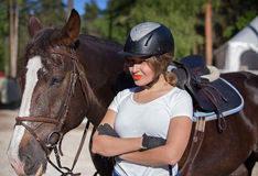 Female rider Stock Images