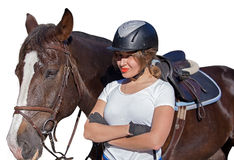 Female rider Royalty Free Stock Image