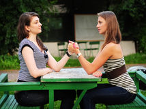 Female rivalry Royalty Free Stock Image