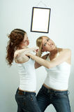 Female rivalry Royalty Free Stock Photo