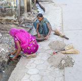 Female road sweeper in Bikaner, India Stock Image