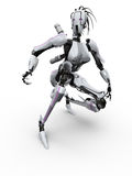 Female Robot. On the white background Stock Photography