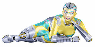 Female Robot Royalty Free Stock Image