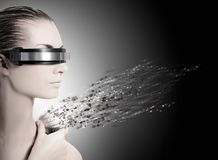 Female robot. Picture of a Female robot. Nanotechnology concept royalty free stock photos