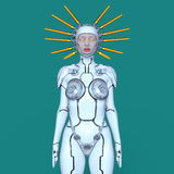 Female robot. 3D CG rendering of a female robot Royalty Free Stock Images