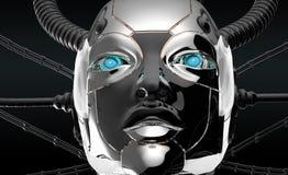Female Robot Face Futuristic Design Royalty Free Stock Photos