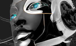 Female Robot Face Futuristic design Royalty Free Stock Photography