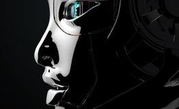 Female Robot Face Futuristic design Stock Photo