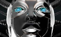 Female Robot Face Futuristic design Royalty Free Stock Image