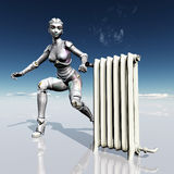Female Robot with Radiator Stock Images