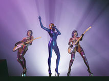 Female rock band in concert Royalty Free Stock Photos