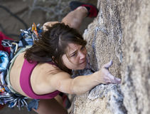 Female rock climber. Stock Photography