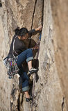 Female rock climber. Stock Photos