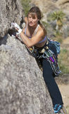 Female rock climber. Royalty Free Stock Image