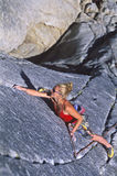 Female rock climber. Royalty Free Stock Photography