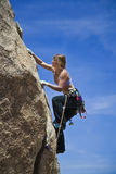 Female rock climber. Royalty Free Stock Photos