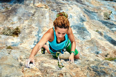 Female rock climber Royalty Free Stock Image