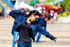 Female Rockabilly Dancing Jean Yoyogi Park Tokyo Royalty Free Stock Photos