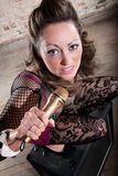 Female rocker Royalty Free Stock Photo