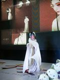 Female role in Chinese opera,Dance of sleeve shaking Royalty Free Stock Image