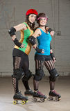 Female Roller Derby Skaters Stock Images