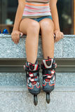 Female roller skater Royalty Free Stock Photography