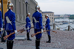 Female Royal Swedish Guards in Stockholm. Royalty Free Stock Image